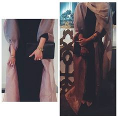 Designer @asmaalmatrooshi ❤ . . . . حلوة للأعراس و هالموسم اللي كله حفلات و زواجات قرب بناااات   This is the perfect abaya dress. loving it. Mashah Allah #Hijab