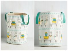 Not going to lie, I would probably use this Llama, I'm Coming Home Hamper as a tote/handbag. | Modcloth affiliate link