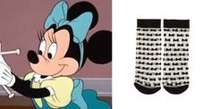 Trend Alert: These Disney-inspired socks are magical   Minnie Mouse bow socks   [ https://style.disney.com/shopping/2016/06/27/sheer-socks/#disney-store ]