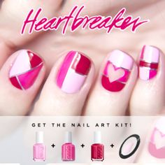 Valentine's Day is the perfect excuse to step up your #nailart game. Here is my favorite design that I will sport.
