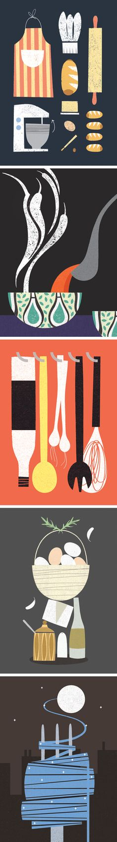 Recipe book illustrations by Ellie Tzoni
