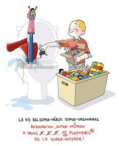 Petit précis de Grumeautique - Blog illustré: La vie des super-héros super-ordinaires - Épisode 2