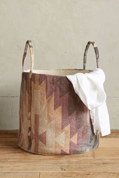 Handpainted Dusk Basket - anthropologie.com #anthrofave
