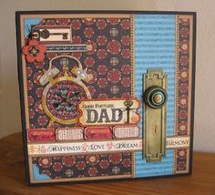 Annette's Creative Journey: Gift Box Idea for Dad using Birdsong collection and Graphic 45 staples.