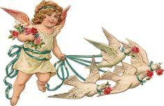 Glanzbilder - Victorian Die Cut - Victorian Scrap - Tube Victorienne - Glansbilleder - Plaatjes : Kleine Engel - little Angel - petit ange -Glanzbild - Victorian Die Cut - tube victorienne - Victorian Scrap - clipart