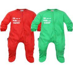 Pyjamas bébé jumeaux: me and my twin love mummy / daddy - SiMedio