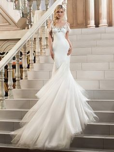 Beautiful Spaghetti Straps Beaded Mermaid Wedding Dress