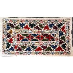 Shop Persian Crewel Hand Knotted  Embroidered Table Runner and other jewelry, art, coins, rugs and real estate at www.aantv.com Decorative Rugs, Table Runners, Jewelry Art, Persian, Coins, Real Estate, Stitch, Knitting, Shop