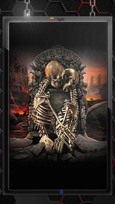 Kissing skulls #kiss #skulls #death #eternal