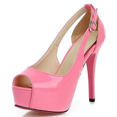 COOLCEPT Women Sexy Platform High Heel Pumps Peep Toe Patent Stiletto Shoes 8 BM US Pink ** Continue to the product at the image link.-It is an affiliate link to Amazon. #WeddingShoes