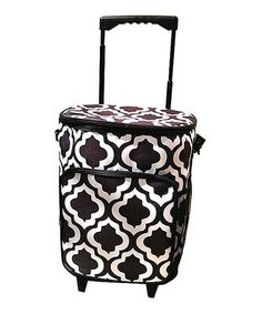 Love this Black & White St. Tropez Rolling Cooler Bag by The Royal Standard on #zulily! #zulilyfinds