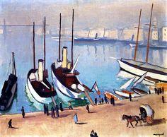 The Old Port at Marseille / Albert Marquet - 1917
