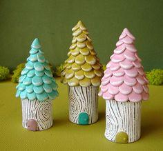 pastel tree houses