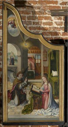 Taferelen uit het leven van de H. Maagd | Vorst[gemeente], Kerk Sint-Denijs[Vorst] | onbekend (kunstschilder), Date: 1541 (onzeker) - 1560 (onzeker), Van Coninxloo, Jan II (kunstschilder) (navolger), Van Coninxloo, Jan II (kunstschilder) (vroegere toeschrijving)