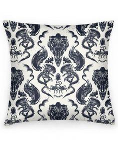 Xenomorph toile throw pillow!