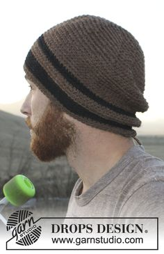 "Crochet DROPS men's hat in ""Nepal"". ~ DROPS Design"