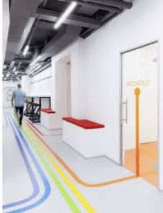 Underhub is a modern language school based in Kiev, Ukraine that also provides coworking space with shared workspaces, conference rooms and lounge zones. The interior which is inspired by an atmosphere of London . Interior Design Hd, Desgin, U Bahn, Language School, London Underground, Coworking Space, Office Interiors, School Design, Office Decor