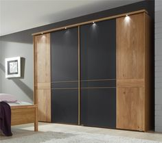 New Oak Bedroom Furniture Interiors Ideas Wardrobe Interior Design, Wardrobe Design Bedroom, Luxury Bedroom Design, Wardrobe Laminate Design, Modern Bedroom Furniture Sets, Bedroom Modern, White Furniture, Sliding Door Wardrobe Designs, Bedroom Cupboard Designs