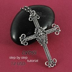 Cross - Step by Step Tutorial - pure wire-wrapping, no soldering skills needed - Instant Download via Etsy
