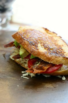 Bacon Avocado and Tomato Grilled Cheese Sandwich