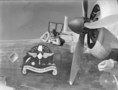 The nose insignia on a Vickers Wellington Mark IC Medium Bomber