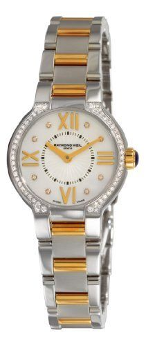 Raymond Weil Women's 5927-SPS-00995 Noemia Two tone Diamond Dial Watch Raymond Weil. $2034.84. Diamond hour markers. Stainless-steel round case. Quartz movement. Mother-Of-Pearl dial. Water-resistant to 165 feet (50 M). Save 15%!