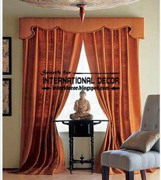Classic orange curtain designs and window treatment