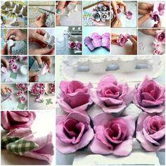 Egg Carton Craft – Beautiful Roses