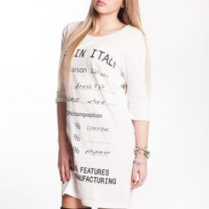 Clothing label dress #ss17 #madeinitaly #onelovecollection Clothing Labels, Dress First, First Love, Italy, Sweaters, Cotton, Clothes, Collection, Dresses