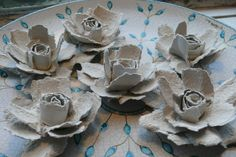 How to Make Cute Roses from Egg Carton – Dolce Creativity