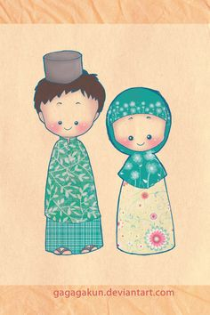 Image result for couple muslim animation