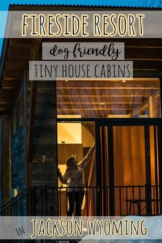 Want to go on a tiny house vacation? Check out my pics and hotel review of the dog-friendly, tiny house cabins at the Fireside Resort in Jackson, Wyoming.