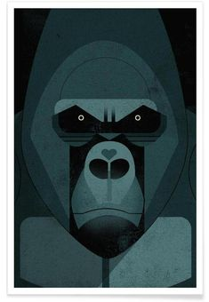 Gorilla als Poster door Dieter Braun Art And Illustration, Monkey Art, Animal Graphic, Inspiration Art, Art Mural, Animal Photography, Art Lessons, Vector Art, Illustrators