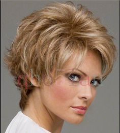 Light Gold Blonde Synthetic Hair Wigs Quality Lady's Short Wig