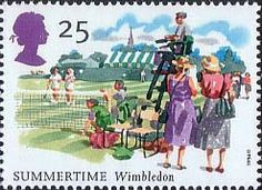 The Four Seasons. Summertime Events 25p Stamp (1994) All England Tennis Championships, Wimbledon
