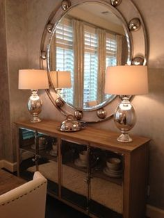 Dining Room Buffet Round Mirror
