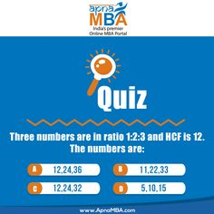 #QuestionoftheDay Which of these numbers is right answer ?   Only #Genius can answer  #ApnaMBA #Quiz #Genius