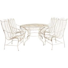 Vintage French 1950,s Patio Outdoor  Table & 4 Chairs Set | 1stdibs.com