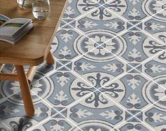 Vinyl Vloer Coupons : Vinyl floor tile sticker floor decals carreaux ciment