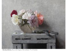 Michael Klein Roses and Clippers Oil on  linen 17 x 22 inches