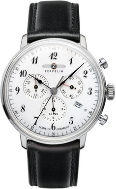Zeppelin Watch Hindenburg #bezel-fixed #bracelet-strap-leather #brand-zeppelin #case-depth-12mm #case-material-steel #case-width-40mm #chronograph-yes #classic #date-yes #delivery-timescale-call-us #dial-colour-white #gender-mens #movement-quartz-battery #official-stockist-for-zeppelin-watches #packaging-zeppelin-watch-packaging #style-dress #subcat-hindenburg #supplier-model-no-7086-1 #warranty-zeppelin-official-2-year-guarantee #water-resistant-30m