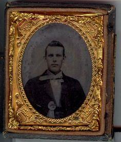 A civilian man wearing a cockade