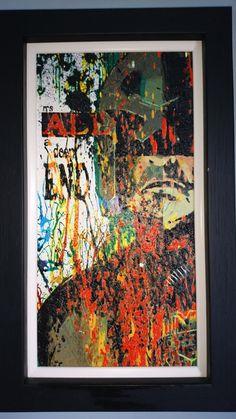 Original Dredd (Film) Acrylic Painting - Framed by GreggMasonArt on Etsy