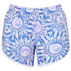 Tikiboo's Dream Catcher Loose Fit Workout Shorts Offer An Athletic Cut For Staying Cool During Runs, Group Exercise Or At The Gym. The Serene Tie-Dye Print Blends Blue, White And Subtle Pink To Make Your Workouts Sparkle! Workout Shorts, Loose Fit, Dream Catcher, Workouts, Tie Dye, Essentials, Sparkle, Athletic, Exercise