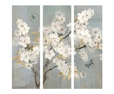 3 Canvas Paintings, Painting Prints, Triptych Wall Art, Framed Wall Art, 3 Piece Canvas Art, Vintage Botanical Prints, Pressed Flower Art, Wall Art Sets, Chinese Art
