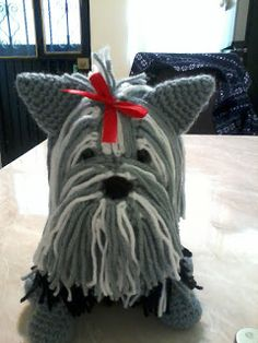 Yorkshire Terrier – Energetic and Affectionate Crochet Patterns Amigurumi, Amigurumi Doll, Amigurumi Free, Knit Or Crochet, Crochet Toys, Knitting Projects, Crochet Projects, Crochet Dog Patterns, Toy Craft