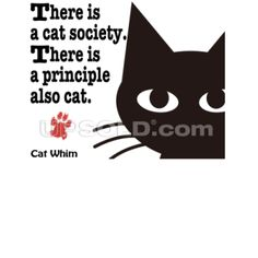 猫の主義 オモテ面 Tシャツ