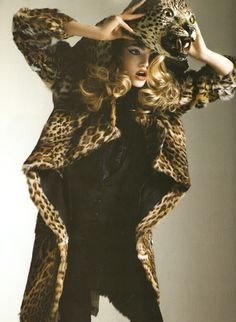 Gemma Ward - Vogue Paris  Leopard on my Head
