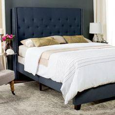 Bedroom Furniture Stores, Furniture Deals, Bedroom Decor, Master Bedroom, Furniture Outlet, Navy Furniture, Online Furniture, Bedroom Ideas, Blue Bedroom