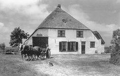 stolpboerderij op Texel, uit het boek Boerenbouwkunst op Texel van Wilma Eelman Holland, Old Farm Houses, The Province, Modern Buildings, Van, House Styles, Holiday, Home, Everything